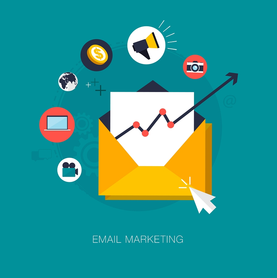vector email marketing concept illustration