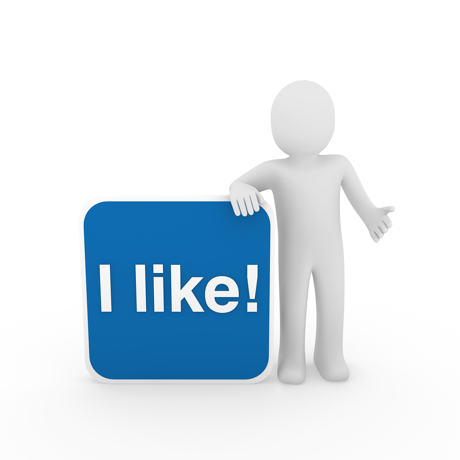 3d human man i like button blue social